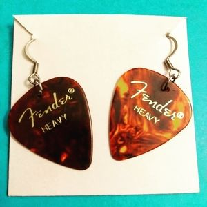 Fender Pick Earrings Created by K.A.Scottollio